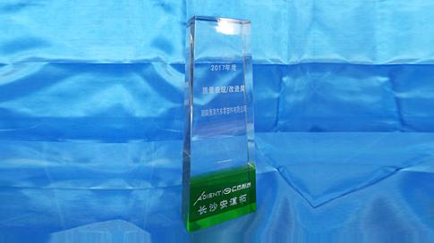 湖南海洋汽车零部件有限公司获客户长沙安道拓颁授2017年度质量表现改进奖